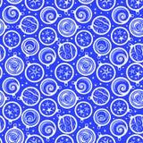 Naadloos patroon met de ballen van Kerstmis Royalty-vrije Stock Afbeeldingen
