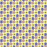Naadloos Patroon met de Bloemen van de Handtekening De zomertextuur Royalty-vrije Stock Afbeeldingen