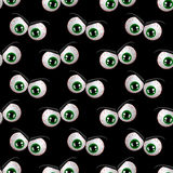 Naadloos patroon met de boze ogen van Halloween Stock Fotografie