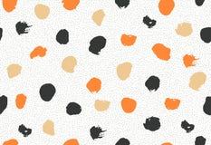 Naadloos patroon met de cirkels van de inktborstel Royalty-vrije Stock Afbeelding