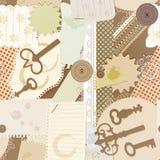 Naadloos patroon met de elementen van het plakboekontwerp Royalty-vrije Stock Fotografie