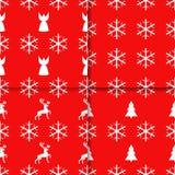 Naadloos patroon met de elementen van Kerstmis Kerstmis en de wintervakantie royalty-vrije illustratie