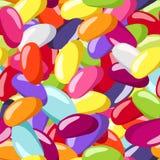 Naadloos patroon met de gekleurde bonen van de Gelei. Royalty-vrije Stock Afbeelding