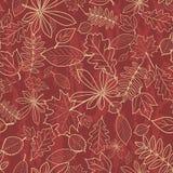 Naadloos patroon met de herfstbladeren Royalty-vrije Stock Afbeeldingen