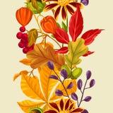 Naadloos patroon met de herfstbladeren en installaties Achtergrond makkelijk te gebruiken voor achtergrond, textiel, verpakkend d vector illustratie