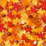 Naadloos patroon met de herfstbladeren. Vectorillustratie. vector illustratie