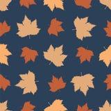 Naadloos patroon met de herfstgebladerte Stock Afbeeldingen