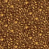 Naadloos patroon met de hiëroglief van Egypte royalty-vrije stock afbeelding