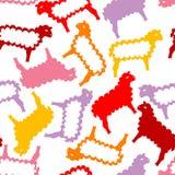 Naadloos patroon met de lammeren van Pasen Stock Foto