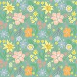 Naadloos patroon met de lentebloemen Royalty-vrije Stock Fotografie