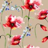 Naadloos patroon met de lentebloemen Royalty-vrije Stock Afbeelding