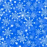 Naadloos patroon met de leuke vuisthandschoenen van beeldverhaalkerstmis, suikergoedriet, hulstbessen, glimlachende sneeuwman en  Stock Foto