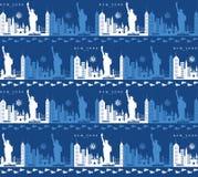 Naadloos patroon met de symbolen en de oriëntatiepunten van New York royalty-vrije stock foto