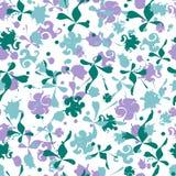 Naadloos patroon met de vectortegel van het bloemenornament stock illustratie