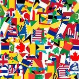Naadloos patroon met de vlaggen van de wereld Royalty-vrije Stock Afbeelding