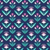 Naadloos patroon met decoratief bloemenornament Stock Illustratie