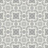 Naadloos patroon met decoratief ornament Royalty-vrije Stock Afbeeldingen