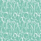 Naadloos patroon met decoratieve brieven Royalty-vrije Stock Afbeeldingen