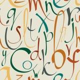 Naadloos patroon met decoratieve brieven Royalty-vrije Stock Afbeelding
