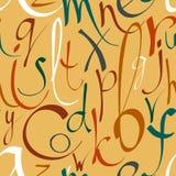 Naadloos patroon met decoratieve brieven Royalty-vrije Stock Foto's