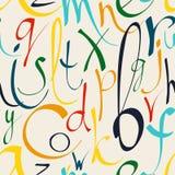 Naadloos patroon met decoratieve brieven Stock Afbeelding