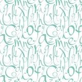 Naadloos patroon met decoratieve brieven Stock Fotografie