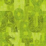 Naadloos patroon met decoratieve brieven Stock Foto's