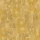 Naadloos patroon met decoratieve brieven Moderne vectorbackgrou Stock Afbeeldingen