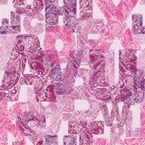 Naadloos patroon met decoratieve brieven Moderne vectorbackgrou Stock Foto's