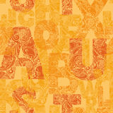 Naadloos patroon met decoratieve brieven Moderne vectorbackgrou Royalty-vrije Stock Afbeeldingen