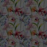 Naadloos patroon met decoratieve de lentebloemen stock afbeeldingen