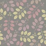 Naadloos patroon met decoratieve de lentebloemen en bladeren Stock Afbeelding