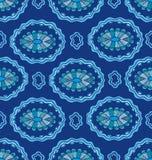 Naadloos patroon met decoratieve ellipsen vector illustratie