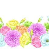 Naadloos patroon met decoratieve gevoelige bloemen Makkelijk te gebruiken voor achtergrond, textiel, verpakkend document, behang vector illustratie