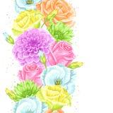 Naadloos patroon met decoratieve gevoelige bloemen Makkelijk te gebruiken voor achtergrond, textiel, verpakkend document, behang stock illustratie