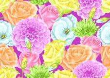 Naadloos patroon met decoratieve gevoelige bloemen Makkelijk te gebruiken voor achtergrond, textiel, verpakkend document, behang royalty-vrije illustratie