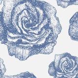 Naadloos patroon met decoratieve magnolia's Stock Afbeelding
