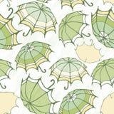 Naadloos patroon met decoratieve paraplu's Stock Foto's