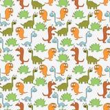 Naadloos patroon met dinosaurussen Stock Foto