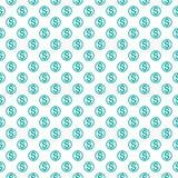Naadloos patroon met dollarteken Het herhalen van bac van het muntsymbool vector illustratie