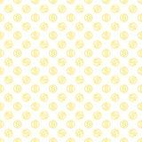 Naadloos patroon met dollarteken Het herhalen van bac van het muntsymbool Royalty-vrije Stock Afbeelding
