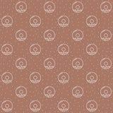 Naadloos patroon met donuts stock illustratie