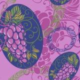 Naadloos patroon met druif royalty-vrije illustratie