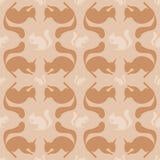 Naadloos patroon met eekhoorn Stock Afbeelding