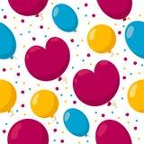 Naadloos patroon met een bos van kleurrijke ballons stock illustratie