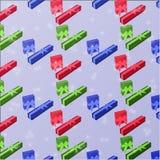 Naadloos patroon met een giftdoos met een gift Stock Foto's