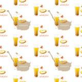 Naadloos patroon met een glas bier voor het meest oktoberfest Stock Foto's