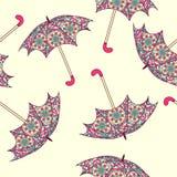 Naadloos patroon met een paraplu vector illustratie