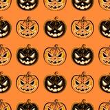 Naadloos patroon met een pompoen Halloween-het malplaatje van het Partijontwerp Royalty-vrije Stock Fotografie