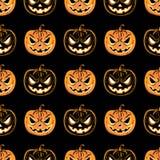 Naadloos patroon met een pompoen Halloween-het malplaatje van het Partijontwerp Royalty-vrije Stock Foto's